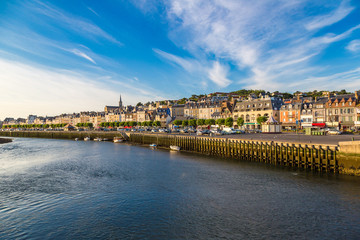 Trouville and Touques river