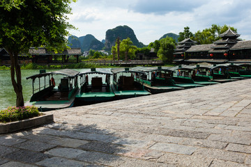 boats on the river Li Guilin China