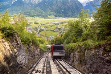 Funicular railway in Interlaken
