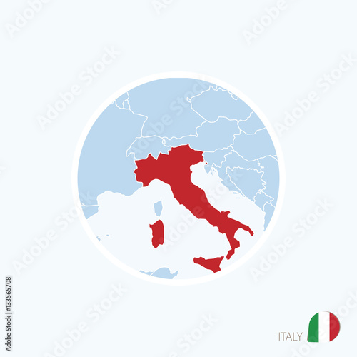 Map icon of italy blue map of europe with highlighted italy map icon of italy blue map of europe with highlighted italy gumiabroncs Choice Image