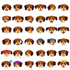 Beagles Dog Emoji Emoticon Expression