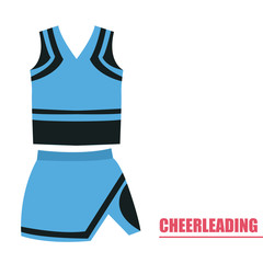 Isolated cheerleading uniform on a white background, Vector illustration