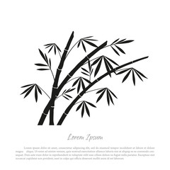 Black bamboo silhouette on a white background