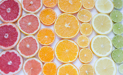 Bright citrus background Fototapete