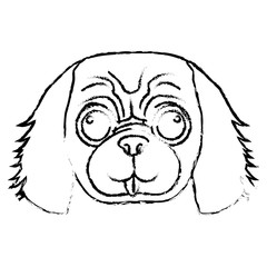 dog face icon over white background. vector illustration