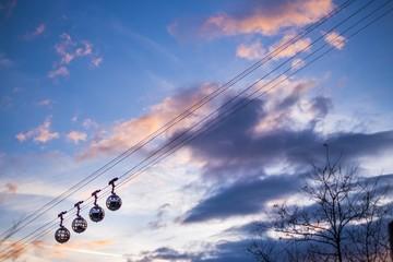 Grenoble - Le téléphérique le soir