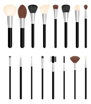 Set of brushes for make up, vector illustration