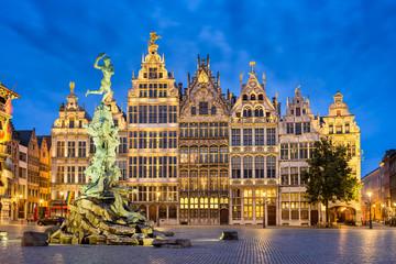 Acrylic Prints Antwerp Grote Markt in Antwerp, Belgium