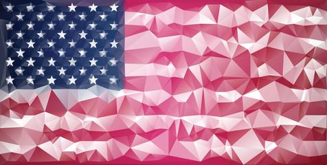 Mosaic usa flag background