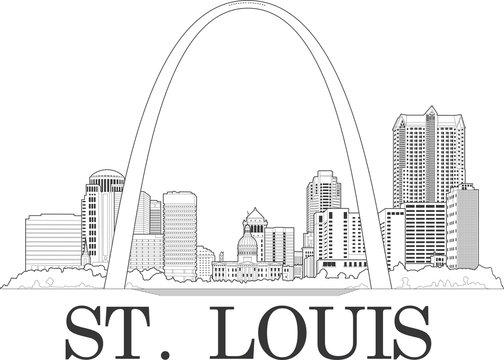 Downtown St. Louis Illustration