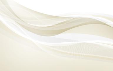 Obraz Abstract beige waves - data stream concept. Vector - fototapety do salonu