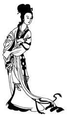 Geisha Tattoo Vector