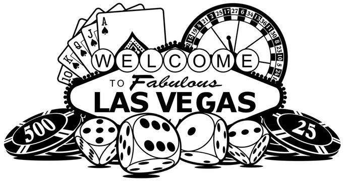 Welcome to Las Vegas Casino Vector