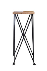 Wooden steel legs simplistic bar chair.