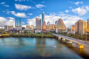 Acrylic Prints United States Downtown Skyline of Austin, Texas