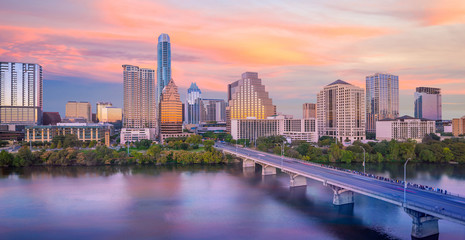 Fotomurales - Downtown Skyline of Austin, Texas