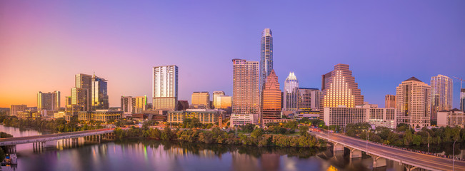 Fotobehang Texas Downtown Skyline of Austin, Texas
