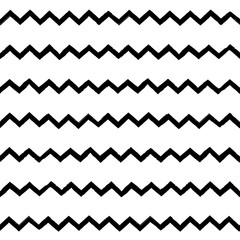 Decorative seamless pattern with handdrawn shapes