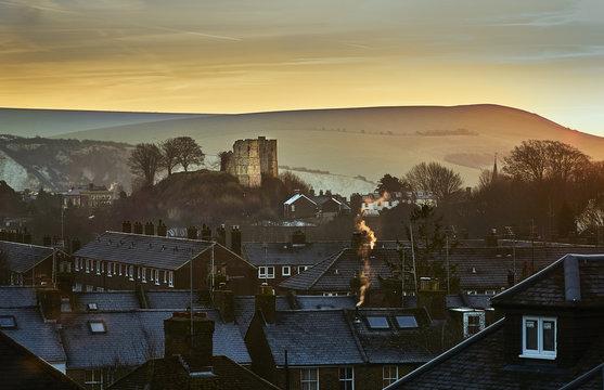 Lewes Castle, Sussex, UK at Dawn