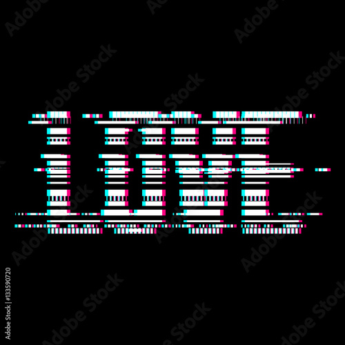 Glitch Love Abstract Lettering Typography With Distortion Effect Bug Error Random Horizontal Monochrome Lines For Design Concepts Wallpapers