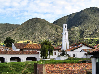 The obelisk of Guatavita. Cundinamarca, Colombia.