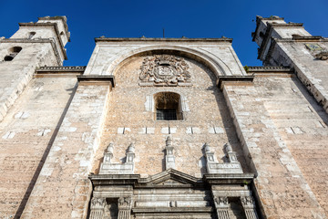 The San Ildefonso Cathedral of Merida, was the first cathedral to be finished on the American mainland and the only one to be entirely built during the 16th century