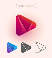 Vector play logo icon