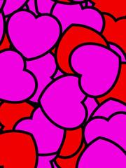 Love background for Saint Valentine day, high definition decoration