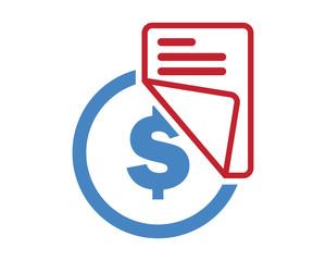 dollar paper icon