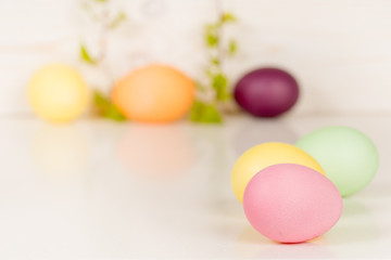 easter background, colorful eggs
