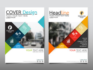 Blue and red flyer cover business brochure vector design, Leaflet advertising abstract background, Modern poster magazine layout template, Annual report for presentation.