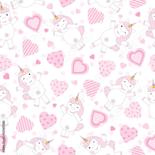 Photo Collection Pretty Pink Hearts Wallpapers Unicorn