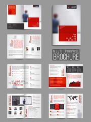Twelve Pages Modern Multi-Purpose Brochure Set.