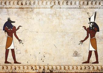 Anubis and Horus