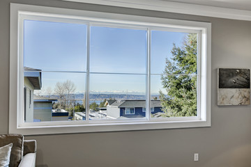 Stunning view of Lake Washington from bedroom window