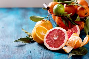 Citrus fruits, vitamins, refreshment, healthy vegan eating