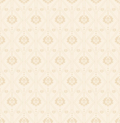 Seamless floral pattern. Wallpaper for interior cream color