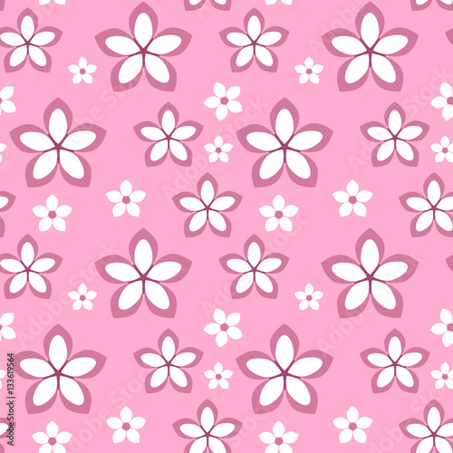 Spring flower sakura seamless pattern cute flower isolated on pink spring flower sakura seamless pattern cute flower isolated on pink background for your design mightylinksfo