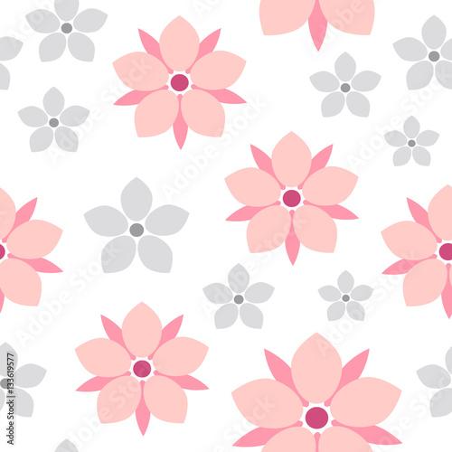quotspring flower sakura seamless pattern cute flower