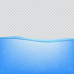 Water, sea, ocean with transparency on transparent background