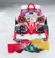 red racing car for the child