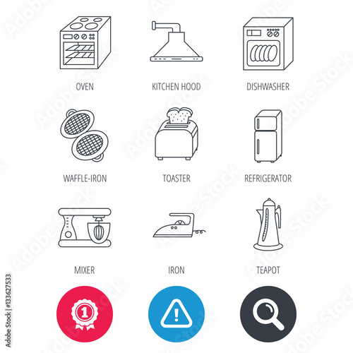 Achievement and search magnifier signs  Dishwasher