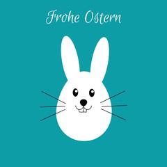 Osterhase - Frohe Ostern - Vektor Grafik