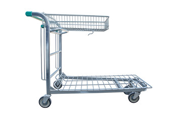 shopping cart isolated on white background and old cart