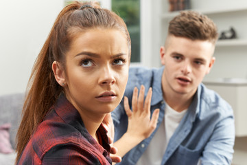 Teenage Couple Having Relationship Difficulties