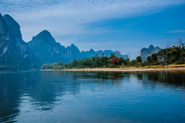 Papiers peints Guilin Karst mountains and Lijiang River scenery
