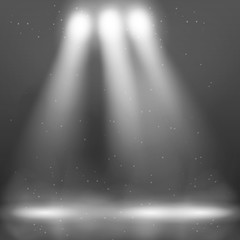 The effect of light and smoke, vector graphics.