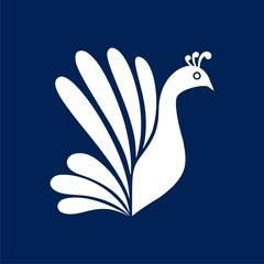 Peacock - vector Illustration icon