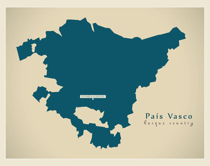 Modern Map - Pais Vasco ES Spain new design refreshed
