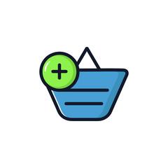 Shopping Basket Isolated Icon Vector Illustration.Flat Style